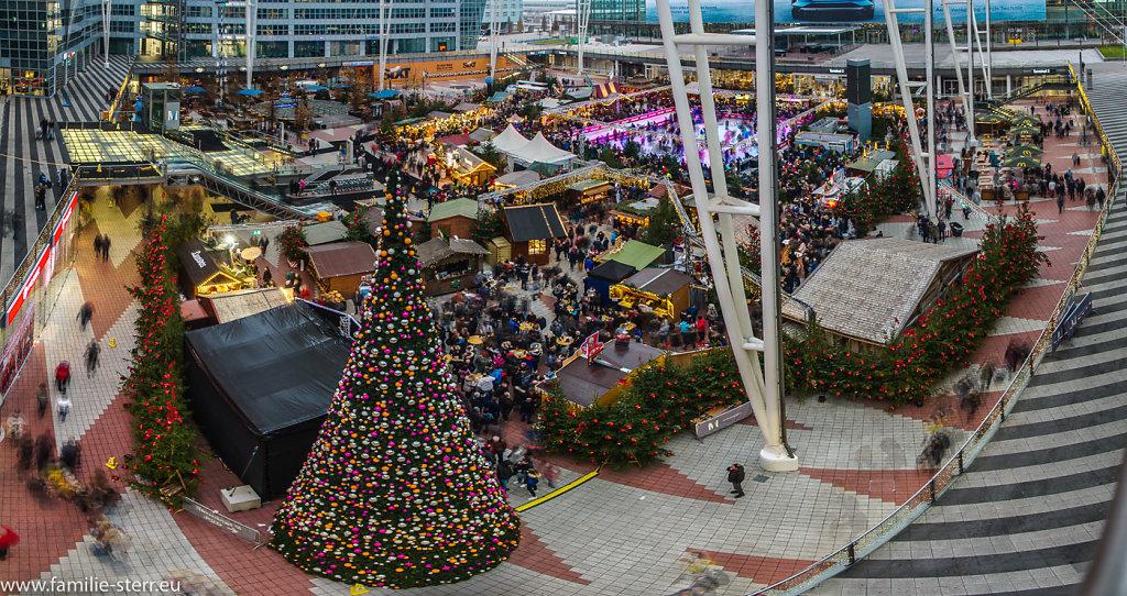 Wintermarkt am Flughafen München