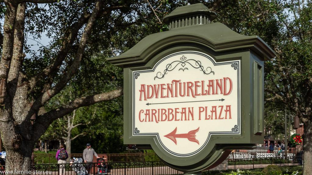 Adventureland Wegweise